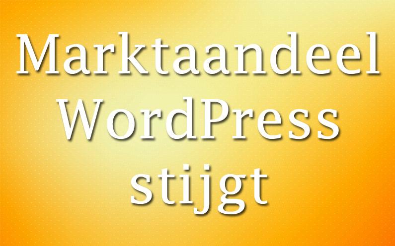 Marktaandeel WordPress opnieuw gestegen