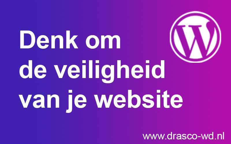 Denk om de veiligheid van je website